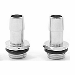 "Swiftech 1/4"" BSPP x 1/2"" Barb Chrome Plated Fitting (Set of 2)"