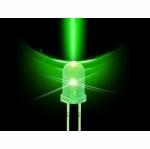 5mm Tailed LED - Green