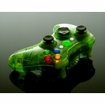 XCM Xbox 360 Wireless Controller Shell w/ New D-Pad - Crystal Green
