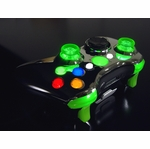 XCM Xbox 360 Wireless Controller Shell w/ New D-Pad & 2 LED Sticks - Chrome w/ Green LEDs