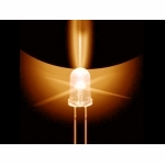 3mm Tailed LED - Amber