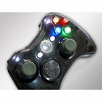 XCM Xbox 360 Wireless Controller Shell w/ New D-Pad - Smoke