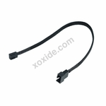 Phobya Adapter 4Pin PWM plug to 3Pin (Socket) 30cm - Black