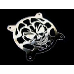 MNPCTech Skull 80mm Fan Grill - Mirrored Acrylic