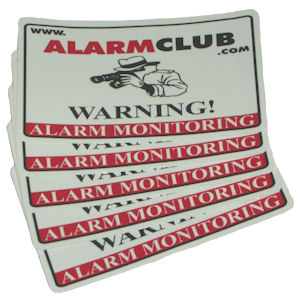 AlarmClub Alarm Monitoring Decals (5-Pack)