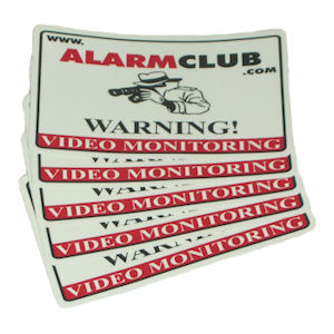 AlarmClub Video Monitoring Decals (5-Pack)