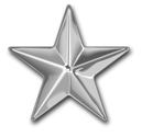 USMC O-7 General Stars Rank Sticker