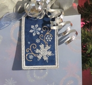 Snowflakes Reusable Gift Tag