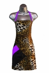 Cheetah + Purple Stylist Apron<font size=2.5>