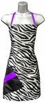 Zebra + Purple Stylist Apron<font size=2.5>