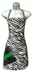 Zebra + Green Stylist Apron<font size=2.5>
