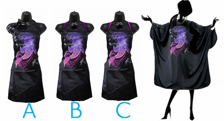 Koi Stylist Apron and Salon Cape Set<font size=2.5>