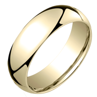 Classic Domed Gold Comfort Fit Rings