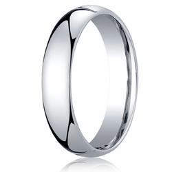 5MM Classic Domed 10K White Gold Comfort Fit Wedding Band Unisex