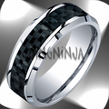 8MM Benchmark Cobalt Chrome Ring w/ Black Carbon Fiber Center