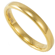 Tungsten and 18K Gold Rings