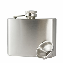 4oz Custom Engraved Stainless Steel Hip Flask & Funnel