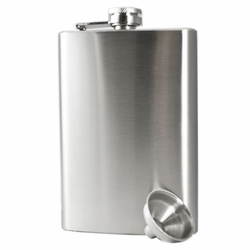 8oz Custom Engraved Stainless Steel Hip Flask & Funnel