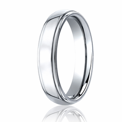 Benchmark 5MM Polished Stepped Edge Cobalt Chrome Wedding Ring