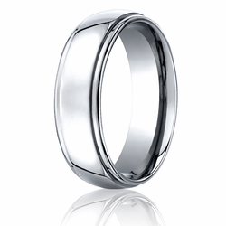 Benchmark 7MM Polished Stepped Edge Cobalt Chrome Wedding Ring