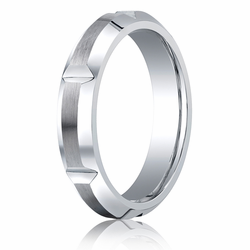 Benchmark 5MM Slotted Cobalt Chrome Ring w/ Brushed Finish
