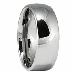 8MM Classic Domed Tungsten Wedding Ring