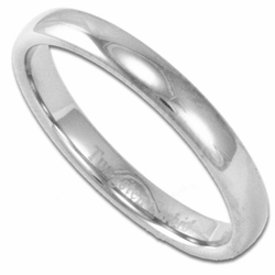 3MM Domed Men's or Women's Tungsten Wedding Ring (Unisex)