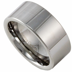 10MM Pipe Cut Men's Tungsten Wedding Ring