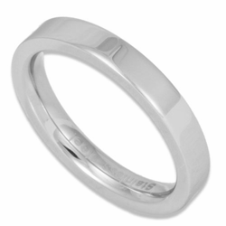 3MM Pipe Cut Women's or Men's Stainless Steel Ring