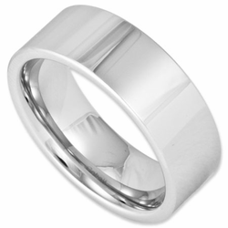 8MM Pipe Cut Modern Style Cobalt Chrome Wedding Ring for Men