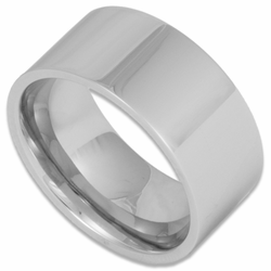 10MM Pipe Cut Wide Stainless Steel Mens Ring