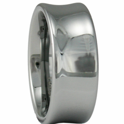 9MM 'Scoop' Style Mens Tungsten Wedding Ring