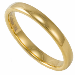 3MM Domed Tungsten Wedding Ring with 18K Gold Plating