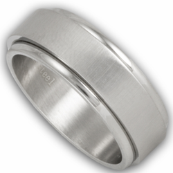 8MM Stainless Steel Spinner Ring