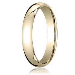 4MM Classic Domed 10K Gold Comfort Fit Wedding Band Unisex
