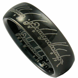 Lord of the Rings (LOTR) Black Tungsten Ring