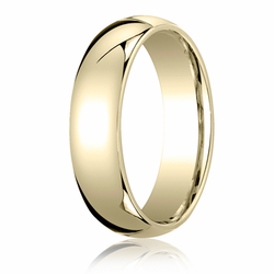 6MM Classic Domed 10K Gold Comfort Fit Wedding Ring Men's or Women's