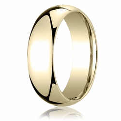 7MM Classic Domed 10K Gold Comfort Fit Band