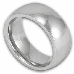 Classic 8MM Domed Titanium Wedding Ring