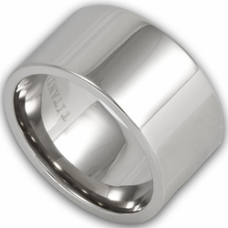 12MM Pipe Cut Titanium Mens Wedding Ring