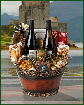 Order your gourmet gift basket or chocolate gift basket with one of our top rated wines,champagne or sparkling