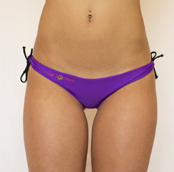 Violet & Black Reversible Thong Islands