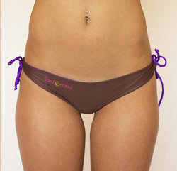 Coffee & Violet Reversible Thong Islands