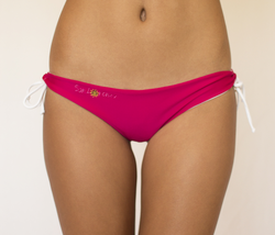 Raspberry & White Reversible Thong Islands