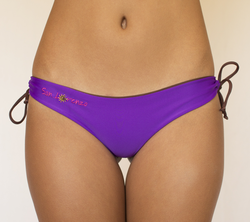 Purple & Brown Reversible Thong islands