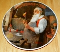 Collector Plate Rockwell Annual Santa Collection Series Santa in His Workshop