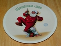 1989 Plate Jolly Old St. Nick Series Name Annual Holiday Plate