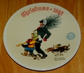 1993 Rockwell Plate Tree Brigade Series Name Annual Holiday Plate