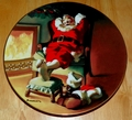1991 Rockwell Plate To All A Good Night Series Name The Sundblom Santa Series