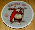 1995 Plate Filling the Stocking Series Name Annual Holiday Plate